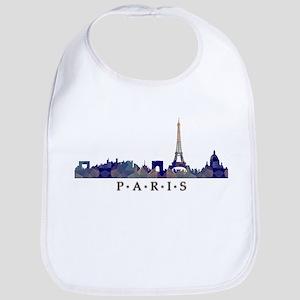 Mosaic Skyline of Paris France Bib