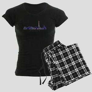 Mosaic Skyline of Paris Fran Women's Dark Pajamas