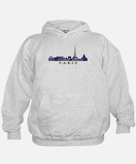 Mosaic Skyline of Paris France Hoodie