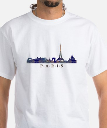 Mosaic Skyline of Paris France T-Shirt