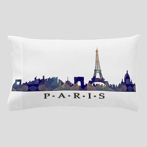 Mosaic Skyline of Paris France Pillow Case
