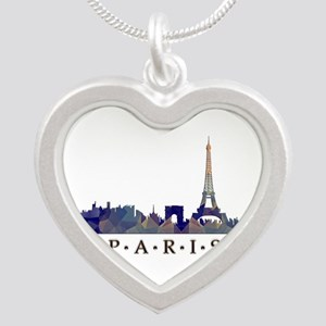 Mosaic Skyline of Paris France Necklaces