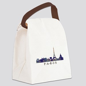 Mosaic Skyline of Paris France Canvas Lunch Bag