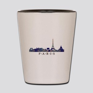 Mosaic Skyline of Paris France Shot Glass