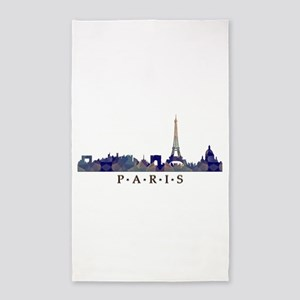 Mosaic Skyline of Paris France Area Rug
