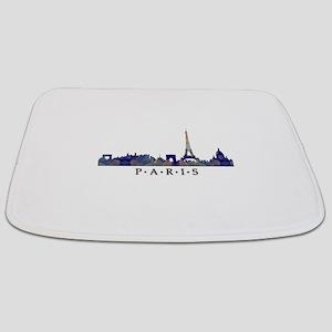 Mosaic Skyline of Paris France Bathmat
