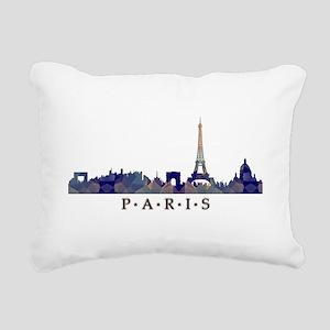 Mosaic Skyline of Paris Rectangular Canvas Pillow