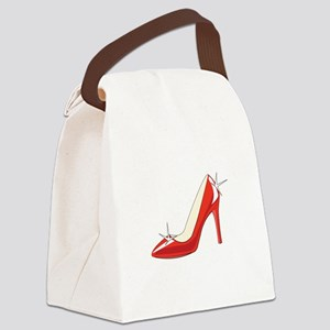 High Heeled Shoe Canvas Lunch Bag