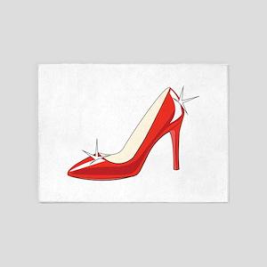 High Heeled Shoe 5'x7'Area Rug