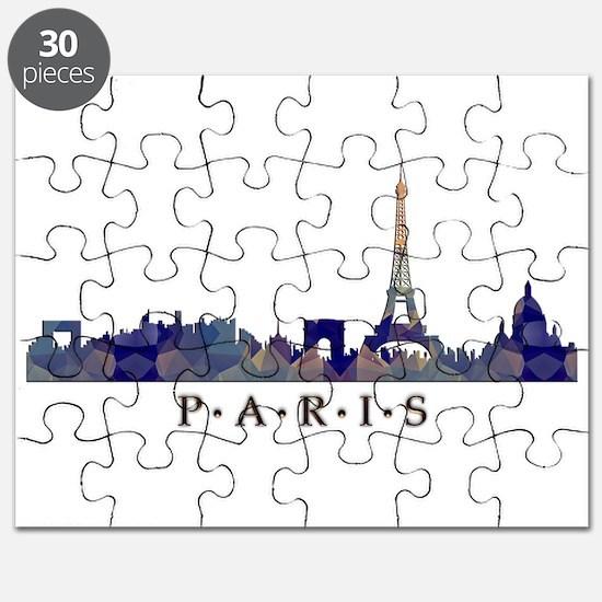 Mosaic Skyline of Paris France Puzzle