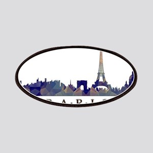 Mosaic Skyline of Paris France Patches