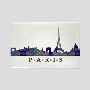 Mosaic Skyline of Paris France Magnets