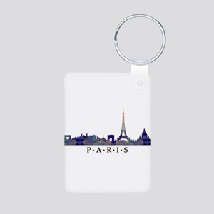 Mosaic Skyline of Paris France Keychains