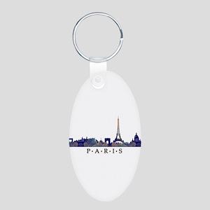 Mosaic Skyline of Paris France Keychains