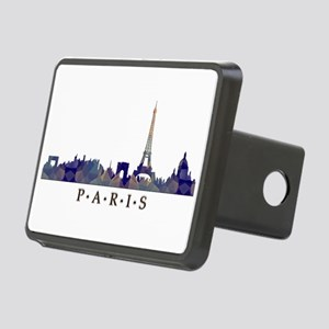 Mosaic Skyline of Paris Fr Rectangular Hitch Cover