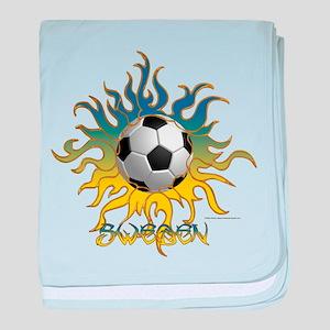 Soccer Tribal Sun baby blanket