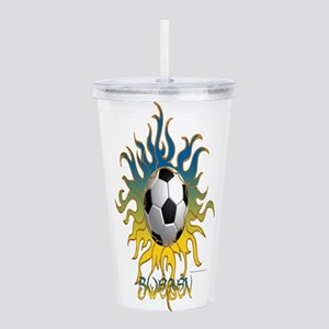 Soccer Tribal Sun Acrylic Double-wall Tumbler