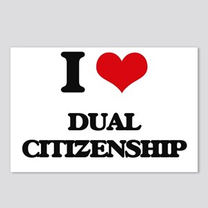 I Love Dual Citizenship Postcards (Package of 8)