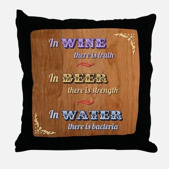 German Proverb V Throw Pillow