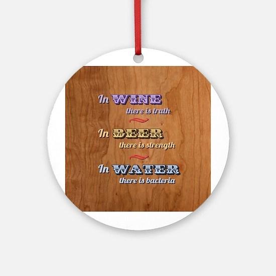German Proverb V Ornament (Round)
