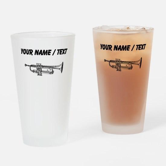 Custom Trumpet Drinking Glass