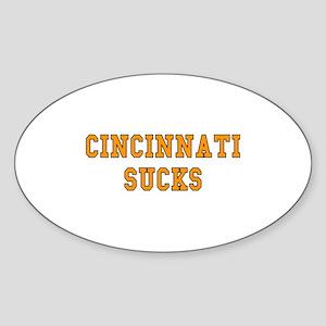 Cincinnati Sucks Oval Sticker