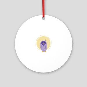 Purple Owl Ornament (Round)