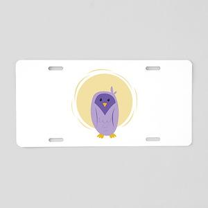 Purple Owl Aluminum License Plate