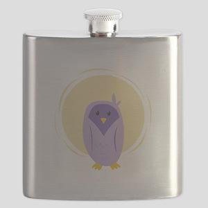 Purple Owl Flask