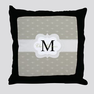Elegant Monogram Design Throw Pillow