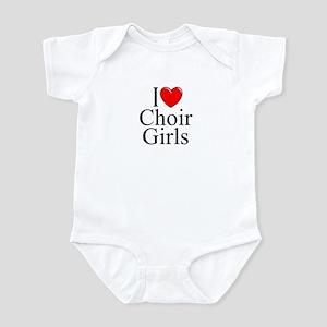"""""""I Love (Heart) Choir Girls"""" Infant Bodysuit"""