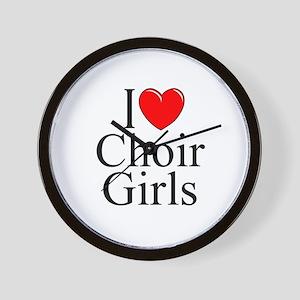 """""""I Love (Heart) Choir Girls"""" Wall Clock"""