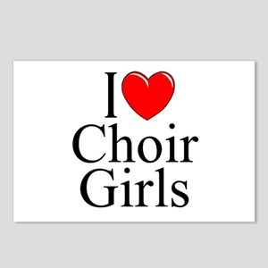 """I Love (Heart) Choir Girls"" Postcards (Package of"