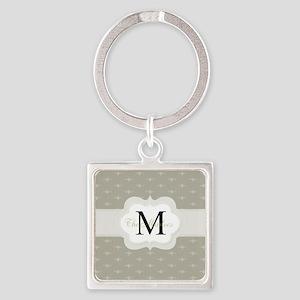 Elegant Monogram Design Keychains