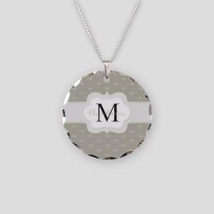 Elegant Monogram Design Necklace