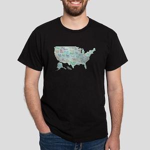 State Mottos Dark T-Shirt
