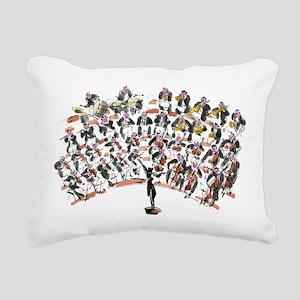 Orchestra Rectangular Canvas Pillow