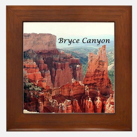 Bryce Canyon, Utah, USA 5 (caption) Framed Tile