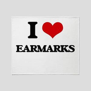 I love Earmarks Throw Blanket