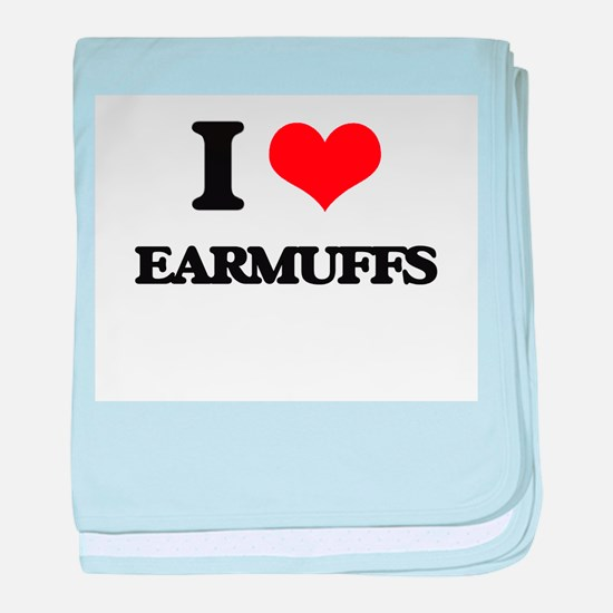 I love Earmuffs baby blanket
