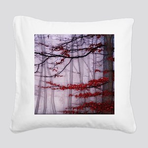 Misty Woods Square Canvas Pillow