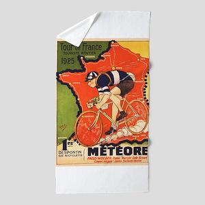 Tour de France Vintage Poster Beach Towel