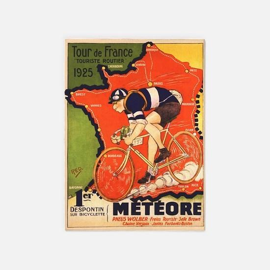 Tour De France Vintage Poster 5'x7'area Rug