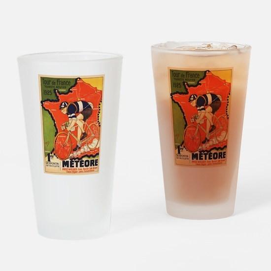 Tour de France Vintage Poster Drinking Glass