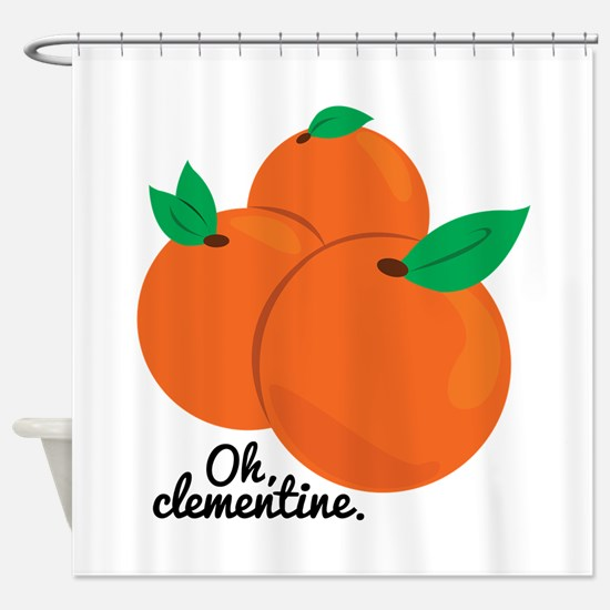 Oh Clementine Shower Curtain