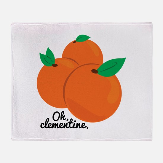 Oh Clementine Throw Blanket