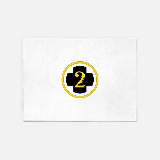 USA 2nd Medical Brigade 5'x7'Area Rug
