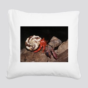 PP and strawberry hermit crabs Square Canvas Pillo