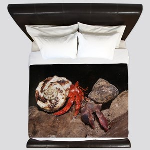 Pp And Strawberry Hermit Crabs King Duvet