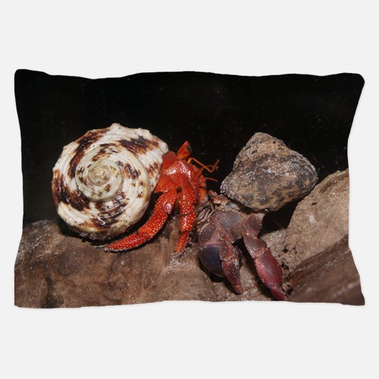 PP and strawberry hermit crabs Pillow Case